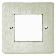 Victorian Plate for Modular Electrical Components 50x50mm Satin Nickel