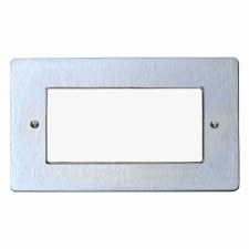 Victorian Plate for Modular Electrical Components 50x100mm Satin Chrome