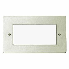 Victorian Plate for Modular Electrical Components 50x100mm Satin Nickel