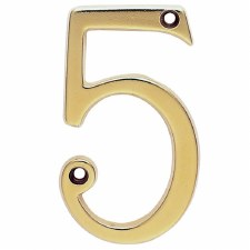 House Numbers 75mm Stainless Brass