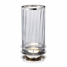 Quintessentiale Arno Concealed Table Lamp Polished Nickel with Smoke Tint Glass