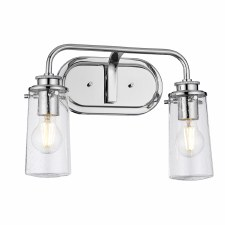 Quintessentiale Braelyn Double Wall Light Polished Chrome