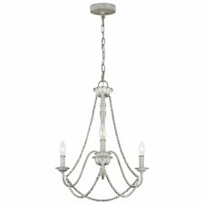 Quintessentiale Maryville 3 Light Chandelier Washed Grey