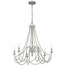 Quintessentiale Maryville 6 Light Chandelier Washed Grey