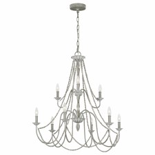 Quintessentiale Maryville 9 Light Chandelier Washed Grey