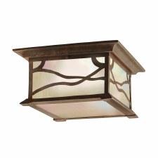 Quintessentiale Morris Flush Ceiling Light Distressed Copper