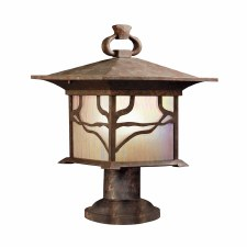 Quintessentiale Morris Pedestal Lantern Distressed Copper