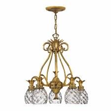 Quintessentiale Plantation 5 Light Chandelier Burnished Brass