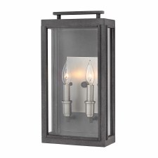 Quintessentiale Sutcliffe Double Light Lantern Aged Zinc with Antique Nickel Reflector