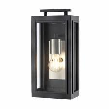 Quintessentiale Sutcliffe Single Light Lantern Aged Zinc with Antique Nickel Reflector
