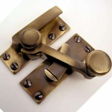 Quadrant Sash Fastener Antique Brass Unlacquered