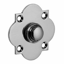 Croft Quatrefoil Door Bell Push 1915 Polished Chrome
