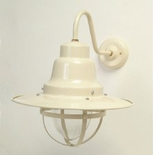 Quayside Outdoor Wall Light Lantern Cream