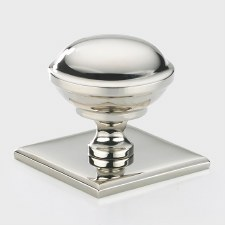 Armac Queslett Cupboard Knob Polished Nickel