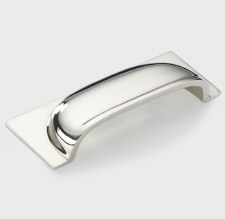 Armac Queslett Drawer Pull Handle 96mm Polished Nickel