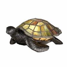 Quoizel Sawback Turtle Tiffany Lamp