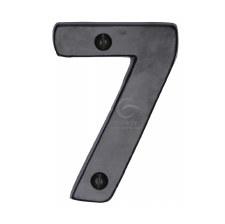 Heritage Numerals 7 FB351 Black Iron Rustic