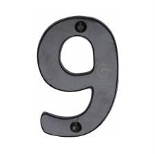 Heritage Numerals 9 FB351 Black Iron Rustic
