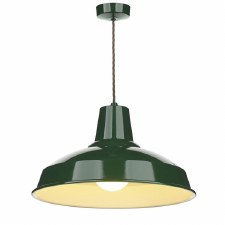 David Hunt REC0124 Reclamation Ceiling Pendant Light Racing Green