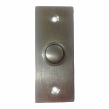 Croft 1910 Rectangular Door Bell Push Satin Chrome