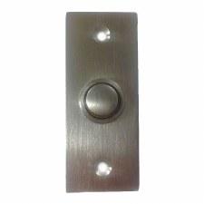Croft 1910 Rectangular Door Bell Push Satin Chrome
