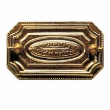 Armac Rectangular Plate Drawer Pull Handle Antique Brass