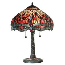 Interiors 1900 Red Dragonfly Tiffany Table Lamp