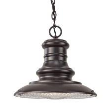 Feiss Redding Station Pendant Light Restoration Bronze