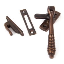 From The Anvil Locking Reeded Window Handle Aged Bronze