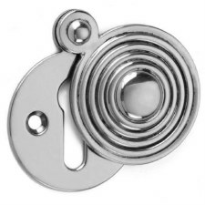 Croft Round Reeded Escutcheon 4565 Polished Chrome