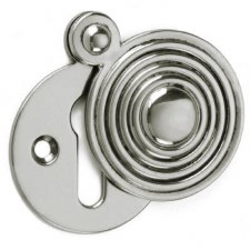 Croft Round Reeded Escutcheon 4565 Polished Nickel