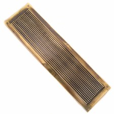 Finger Plate Reeded Renovated Brass Look