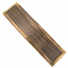 Finger Plate Reeded Renovated Brass