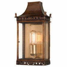 Elstead Regents Park Flush Outdoor Wall  Lantern Antique Brass
