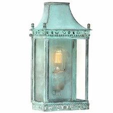 Elstead Regents Park Flush Outdoor Wall Lantern Verdigris
