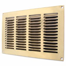 "Return Air Grille 10.5"" x 6.5"" Polished Brass Unlacquered"