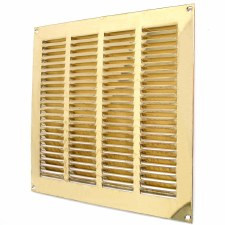 "Return Air Grille 10.5"" x 9.5"" Polished Brass Unlacquered"