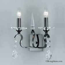 Rhinestone Twin Wall Light