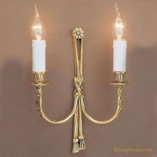 Richmond Double Wall Light Polished Brass