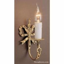 Richmond Bow Single Wall Light Polished Brass