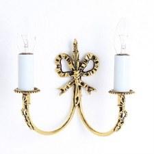 Richmond Bow Double Wall Light Polished Brass
