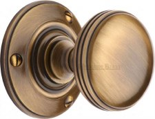 Heritage Richmond Mortice Knobs RHM988 Antique Brass