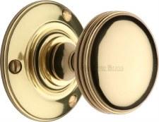 Heritage Richmond Mortice Knobs RHM988 Polished Brass