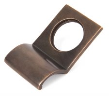 From The Anvil Rim Cylinder Door Pull Aged Bronze