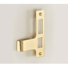 Rim Lock/Latch Keep - Opening Outward - Polished Brass Unlacquered