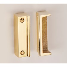 Rim Lock/Latch Staple B700 Polished Brass Unlacquered