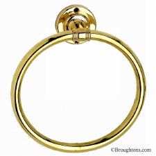 Rimini Towel Ring Polished Brass