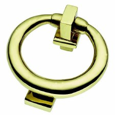 Ring Door Knocker Polished Brass Lacquered