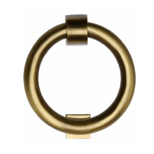 Heritage K1270 Ring Door Knocker Antique Brass Lacquered