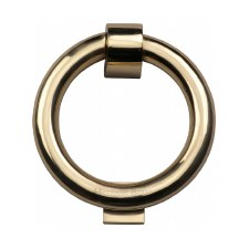 Heritage K1270 Ring Door Knocker Polished Brass Lacquered